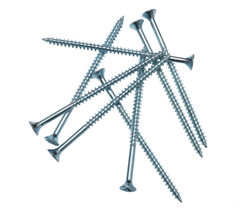 Chipboard Screws,white zinc plated