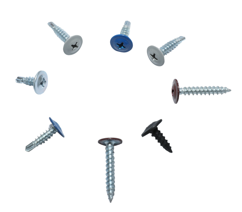 Truss head self-tapping screw,color head
